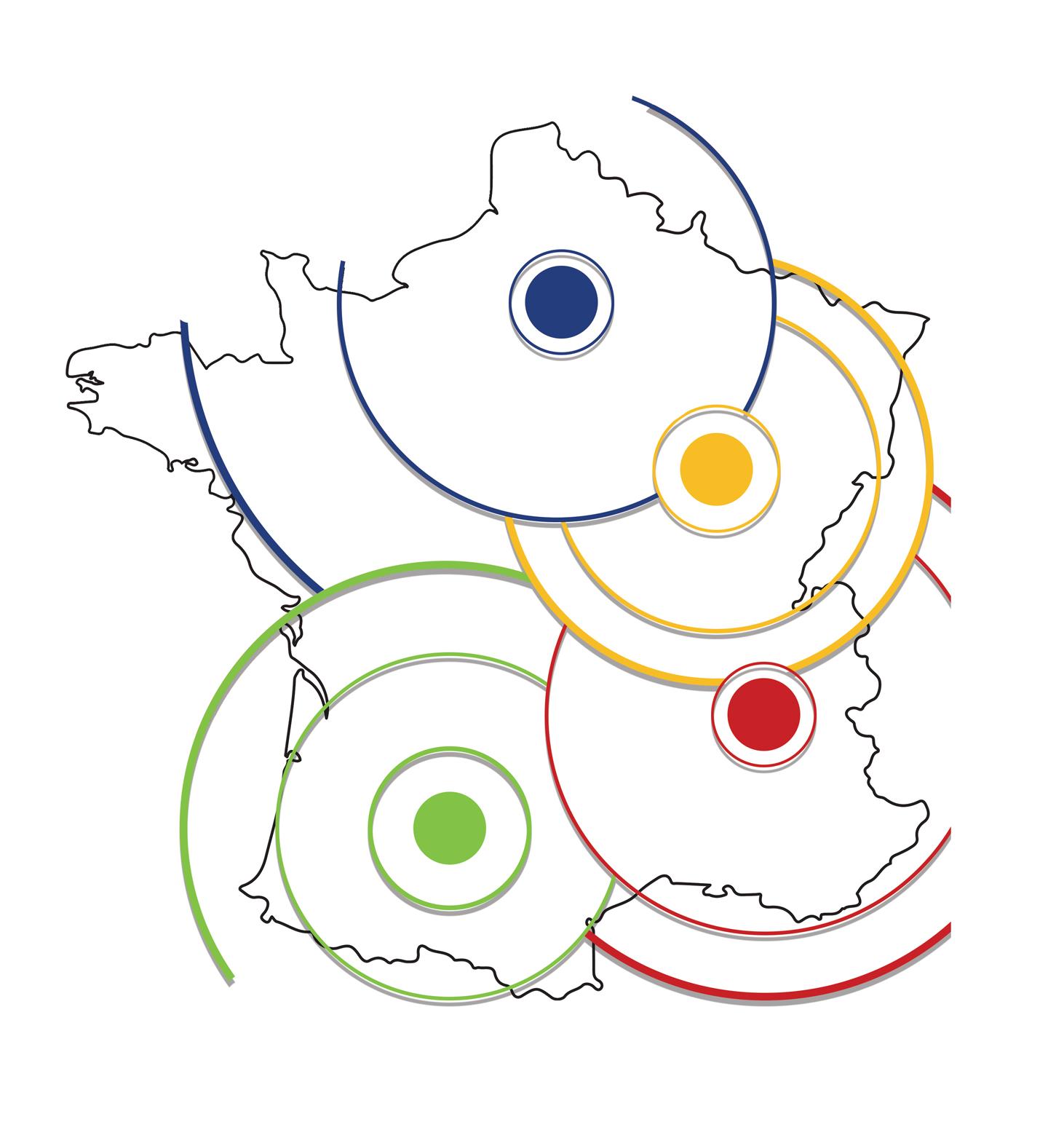 Carte de france réseau RED